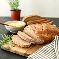 This Rosemary Garlic Bread is so easy to makes and whole wheat based!