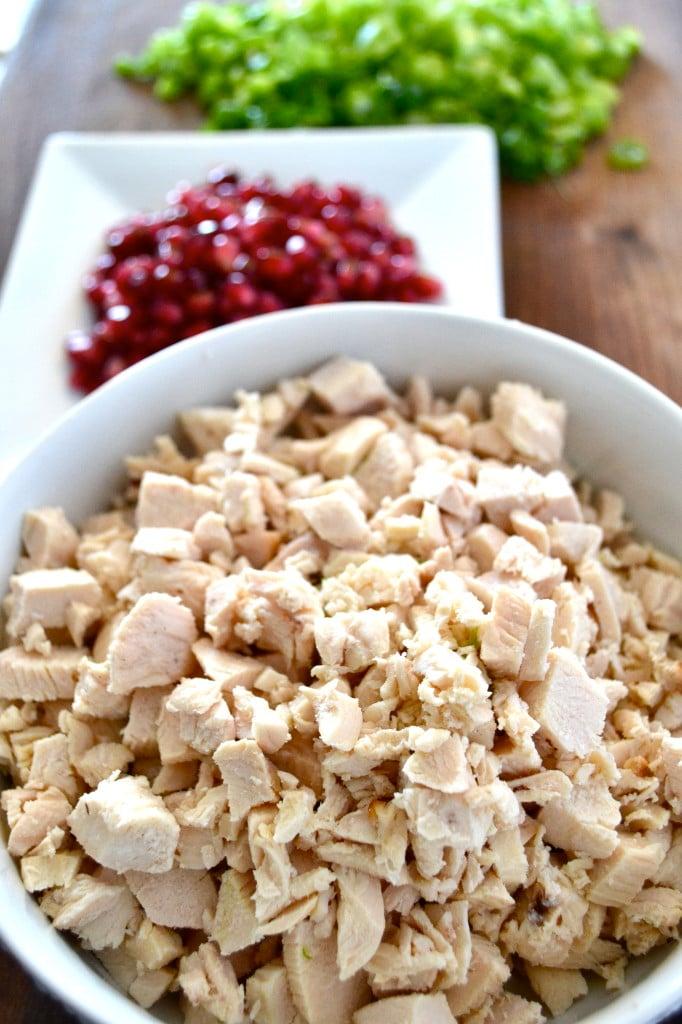 Pomegranate Chicken Salad