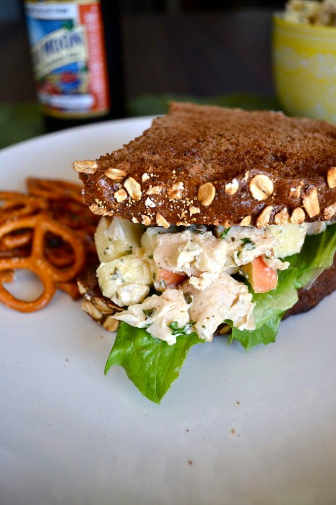 Autumn Chicken Salad Sandwich