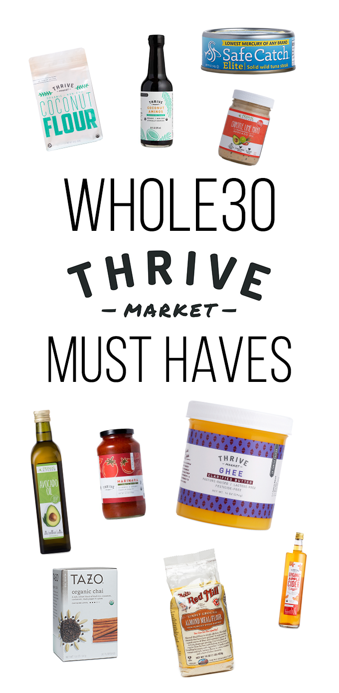 Looking for a Thrive Market Whole30 Shopping list? Look no further! Thrive Market has all of the pantry staples you need and at low prices no less!