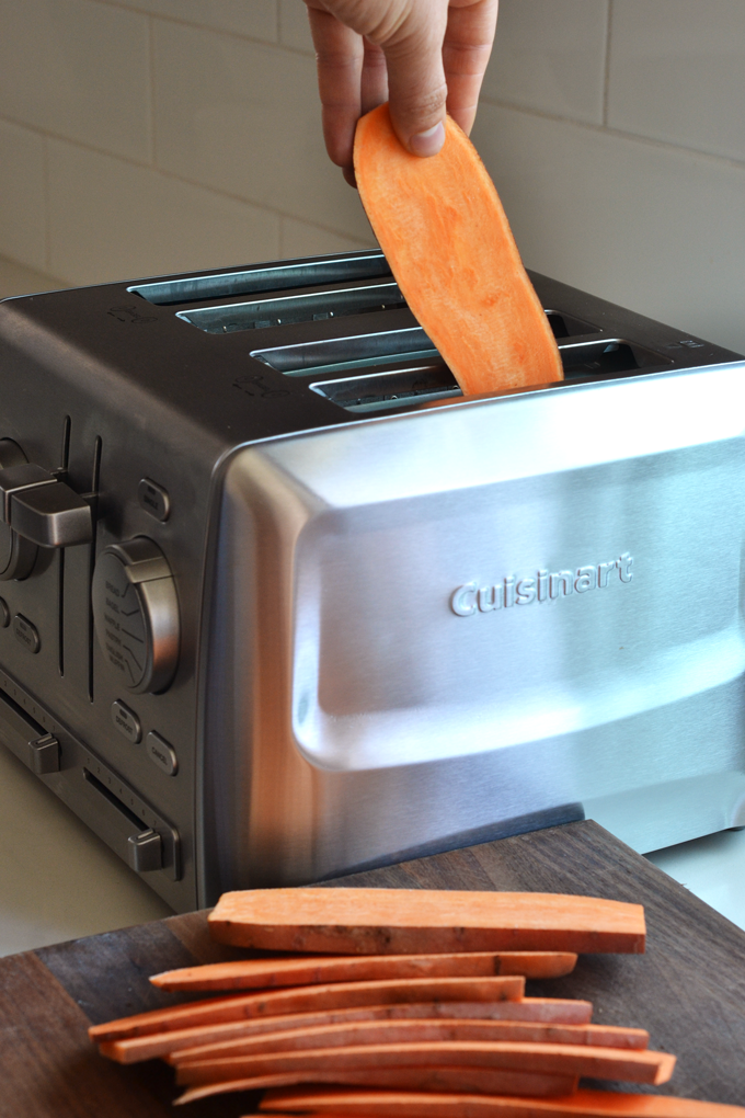 Cooking Sweet Potatoes in a Toaster for Sweet Potato Toast!