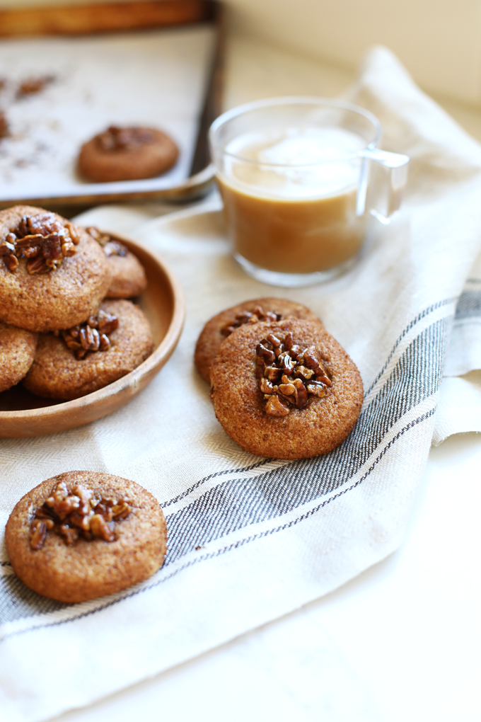 These Paleo Sticky Bun Snickerdoodles are a great way to get some fall baking in while keeping it clean and delicious!