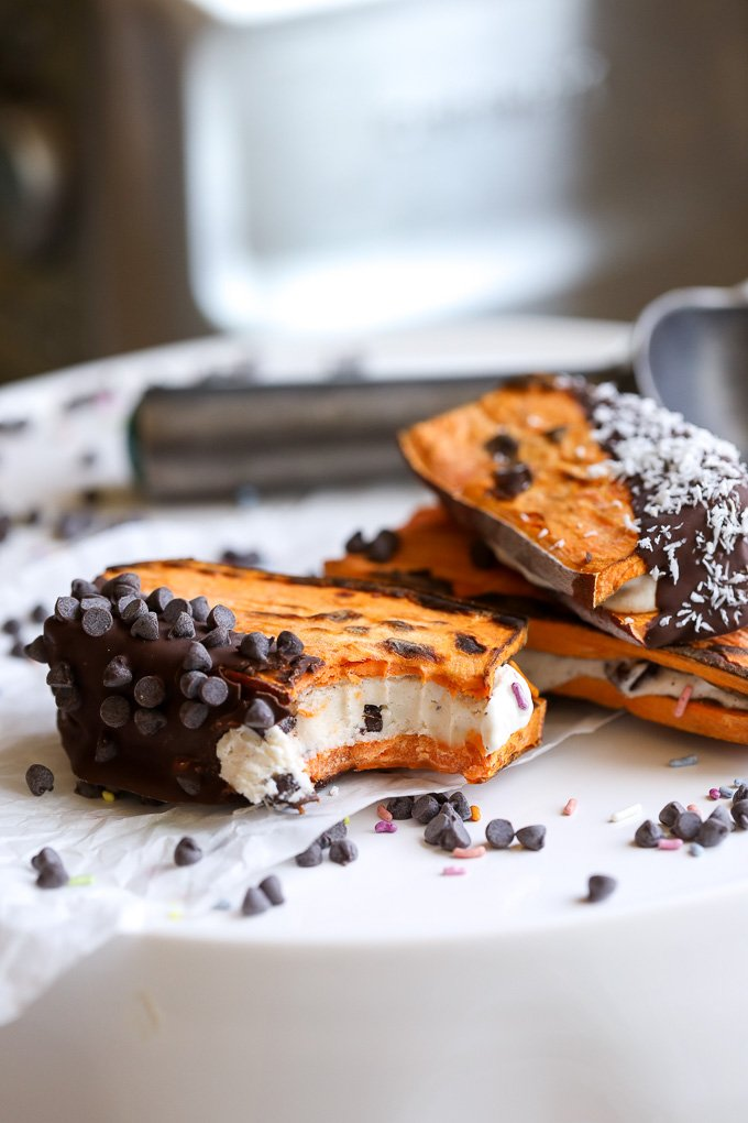Sweet Potato Toast Ice Cream Sandwiches are the best invention since.. well, Sweet Potato Toast! A perfect grain free treat!!