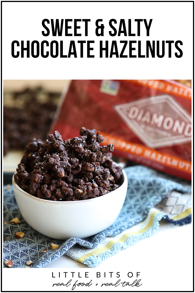 These Sweet & Salty Chocolate Hazelnuts are a delicious dessert or snack that is packed with clean ingredients!