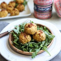 These Bacon Dill Salmon Meatballs are a super easy and healthy way to enjoy a protein packed meal! Paleo and whole30 using Safe Catch pink salmon!