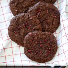These Chocolate Raspberry Swirl Cookies are paleo, grain free, refined sugar free and so delicious!