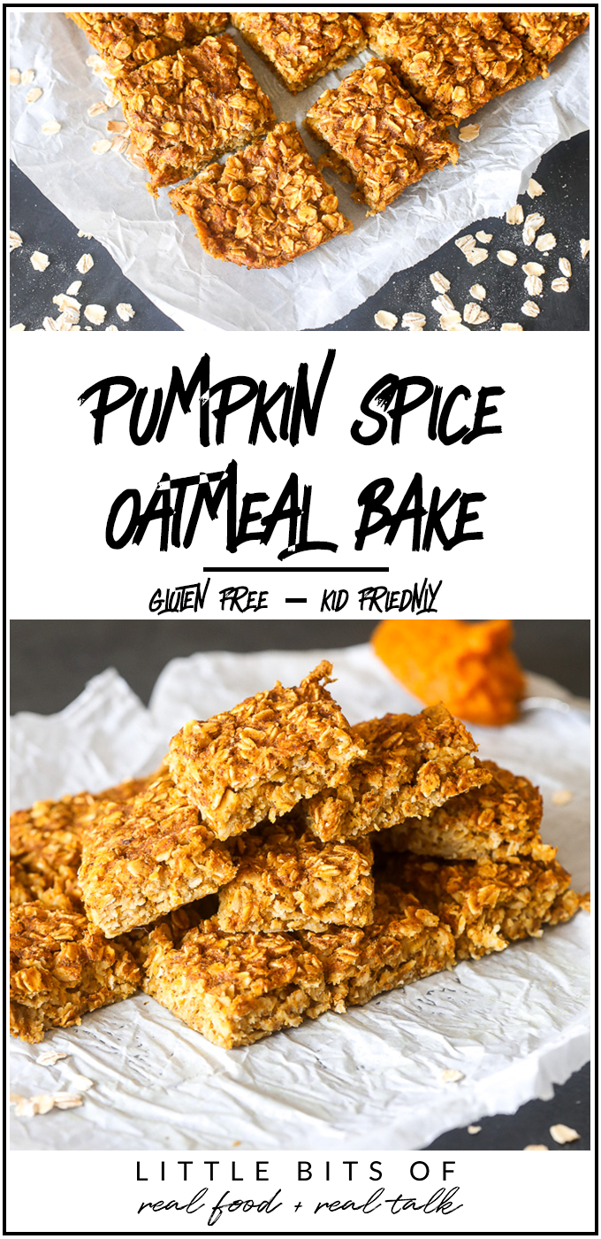 This Pumpkin Spice Oatmeal Bake is so delicious and perfect for kids in the morning!