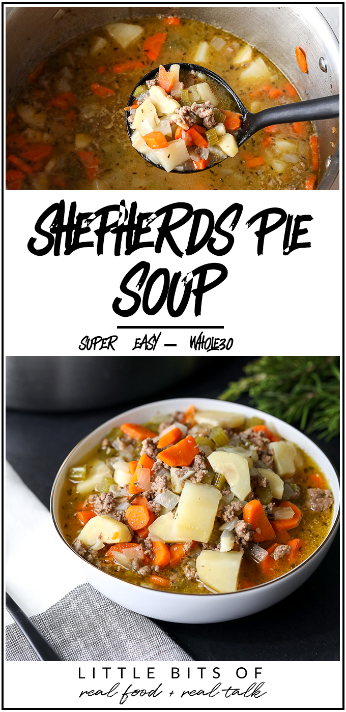 This Shepherds Pie Soup is a super easy soup to make for the whole family and is also Whole30 compliant!