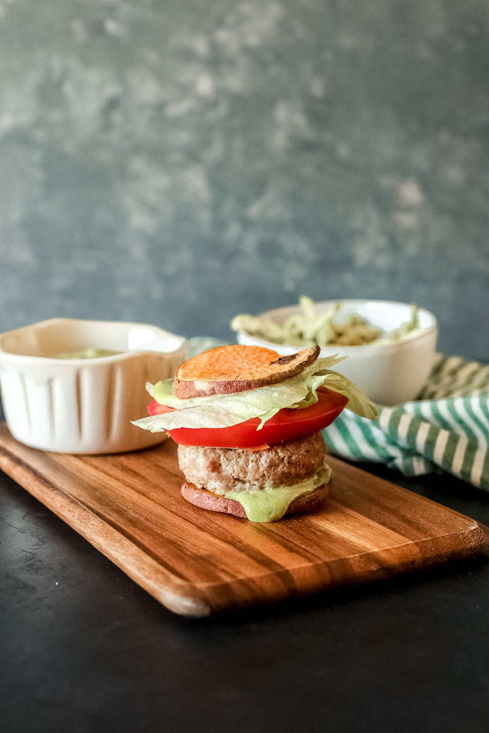 This Garlic Pesto Aioli is Whole30 compliant, simple to mix up in your blender and great on burgers, sandwiches and chicken salad!