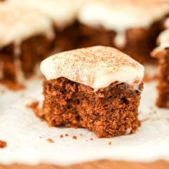 This Spice Cake with Dairy Free Cream Cheese Frosting is a gluten free and nut free cake that is perfect for the holiday season!
