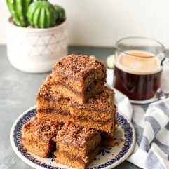 This Paleo Coffee Cake is grain free, refined sugar free and the perfect baked good for a cold day!