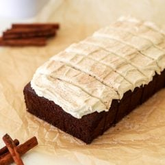 This Gluten Free & Dairy Free Gingerbread Loaf Cake is so easy to make and delicious - perfect for the holidays!