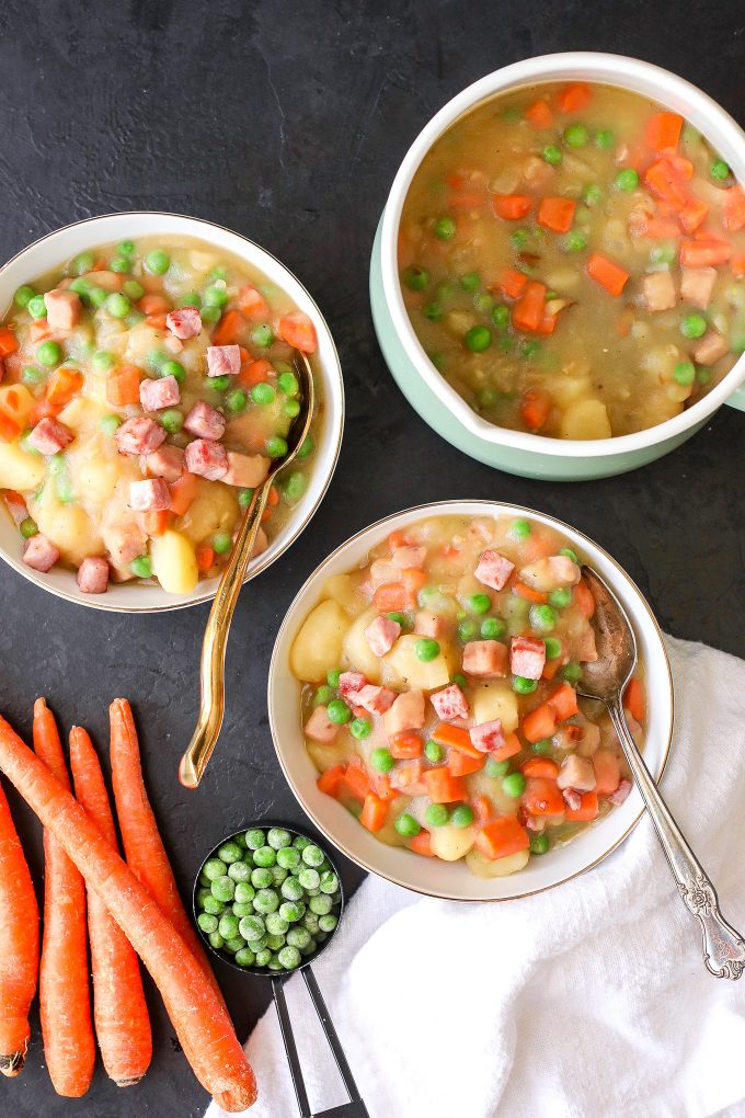This Ham & Potato Soup is super easy to make with minimal ingredients and is paleo!