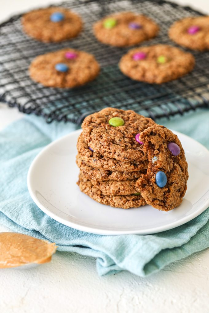 These sedimentary cookies are gluten-free, Dairy free, and packed with oats, almond flour, peanut butter and coffee!