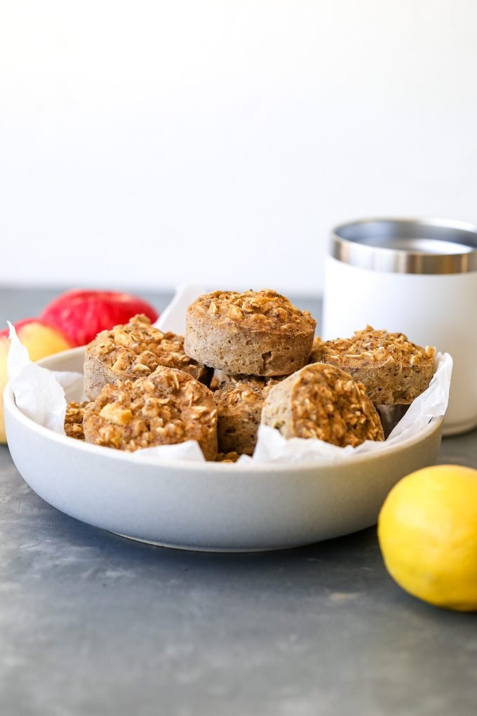 These Oatmeal Breakfast Muffins are the perfect healthy breakfast to prep for the week!