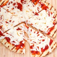 This is a picture of how to grill pizza