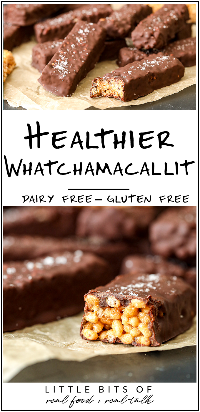 This Healthier Whatchamacallit recipe is dairy free, gluten free and a fun recipe to make at home to recreate a favorite childhood candy!
