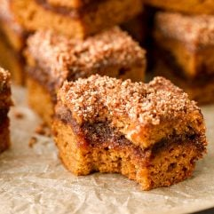 This Pumpkin Coffee Cake with grain free, dairy free and so dang delicious!