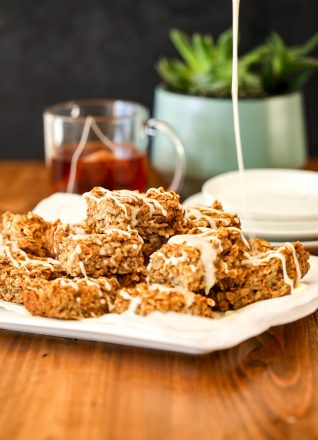 This Chai Spiced Oatmeal Bake is a delicious fall breakfast that you can make ahead and eat all week!