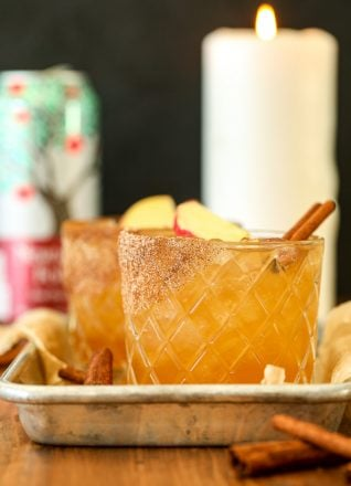 This Maple Apple Bourbon Spritz is like fall in a cocktail!